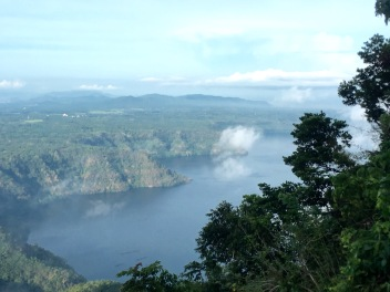 Majestic morning sight of Taal Lake